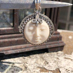 Jewelry - Face Bali Sterling Silver Pendant